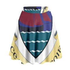 Coat of Arms of County Galway  High Waist Skirt