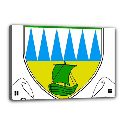 Coat of Arms of County Kerry  Canvas 18  x 12