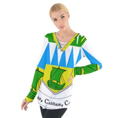 Coat of Arms of County Kerry  Women s Tie Up Tee