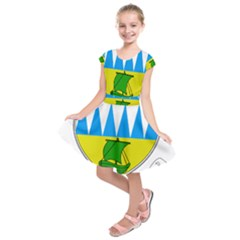 Coat of Arms of County Kerry  Kids  Short Sleeve Dress