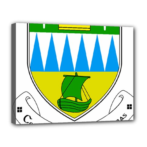 Coat of Arms of County Kerry Canvas 14  x 11