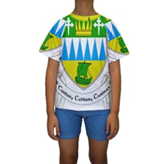 Coat of Arms of County Kerry Kids  Short Sleeve Swimwear