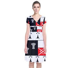 County Kilkenny Coat of Arms Short Sleeve Front Wrap Dress