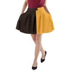 Flag of County Kilkenny A-Line Pocket Skirt