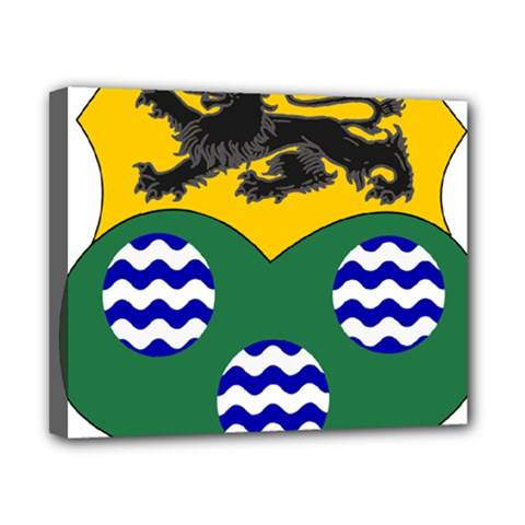 County Leitrim Coat of Arms Canvas 10  x 8