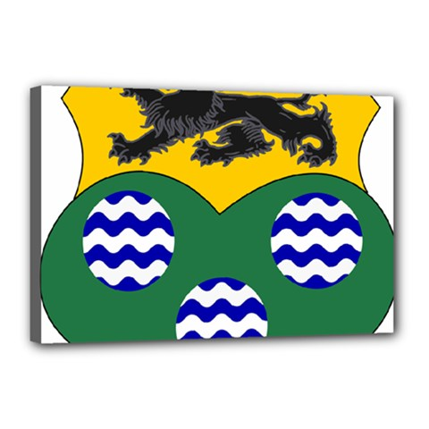 County Leitrim Coat of Arms  Canvas 18  x 12