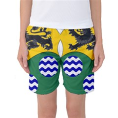 County Leitrim Coat Of Arms  Women s Basketball Shorts