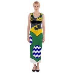 County Leitrim Coat of Arms  Fitted Maxi Dress