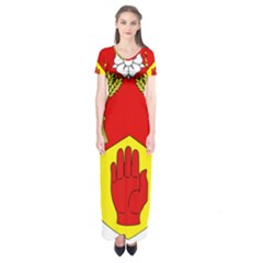 County Londonderry Coat of Arms Short Sleeve Maxi Dress