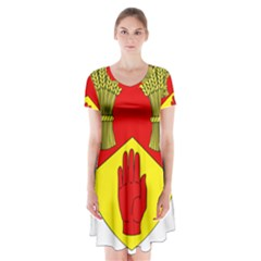 County Londonderry Coat of Arms  Short Sleeve V-neck Flare Dress