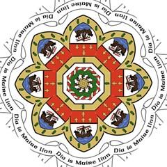 County Mayo Coat of Arms Hook Handle Umbrellas (Medium)