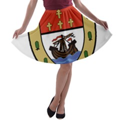 County Mayo Coat of Arms A-line Skater Skirt