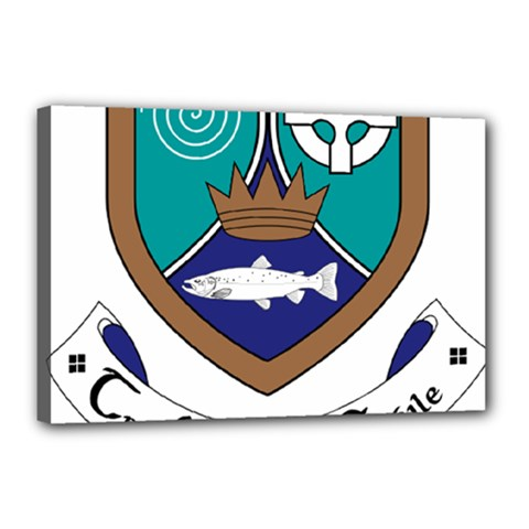 County Meath Coat of Arms Canvas 18  x 12