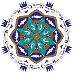County Meath Coat of Arms Hook Handle Umbrellas (Medium)
