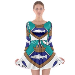 County Meath Coat of Arms Long Sleeve Skater Dress