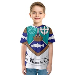 County Meath Coat of Arms Kids  Sport Mesh Tee