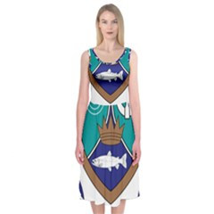 County Meath Coat of Arms Midi Sleeveless Dress