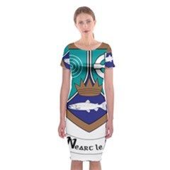 County Meath Coat of Arms Classic Short Sleeve Midi Dress
