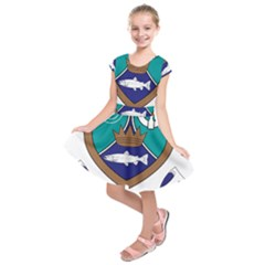 County Meath Coat of Arms Kids  Short Sleeve Dress