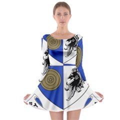 County Monaghan Coat Of Arms  Long Sleeve Skater Dress