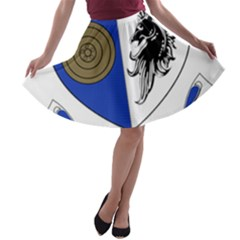 County Monaghan Coat of Arms  A-line Skater Skirt