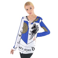 County Monaghan Coat of Arms  Women s Tie Up Tee