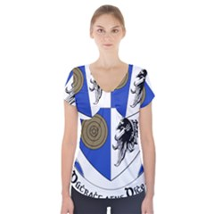 County Monaghan Coat of Arms  Short Sleeve Front Detail Top
