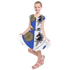 County Monaghan Coat of Arms  Kids  Short Sleeve Dress