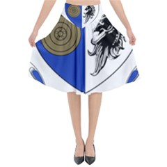 County Monaghan Coat of Arms  Flared Midi Skirt