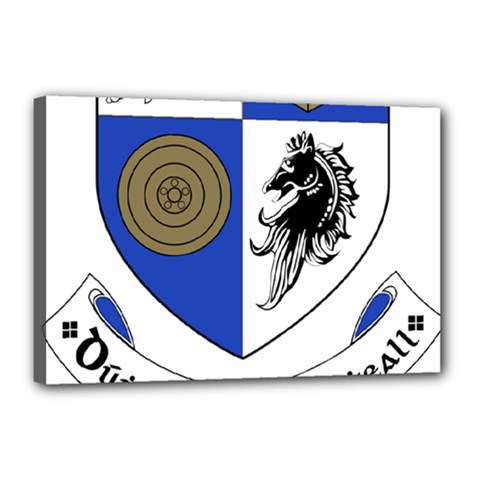 County Monaghan Coat of Arms Canvas 18  x 12