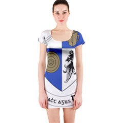 County Monaghan Coat of Arms Short Sleeve Bodycon Dress