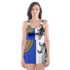 County Monaghan Coat of Arms Skater Dress Swimsuit