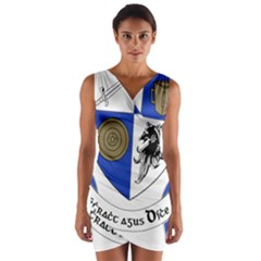 County Monaghan Coat of Arms Wrap Front Bodycon Dress