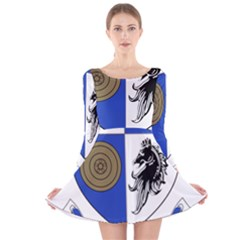 County Monaghan Coat of Arms Long Sleeve Velvet Skater Dress
