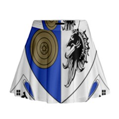 County Monaghan Coat of Arms Mini Flare Skirt