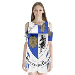 County Monaghan Coat of Arms Shoulder Cutout Velvet  One Piece