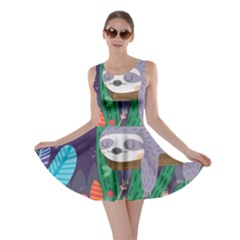 Sloth in nature Skater Dress