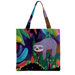Sloth in nature Grocery Tote Bag