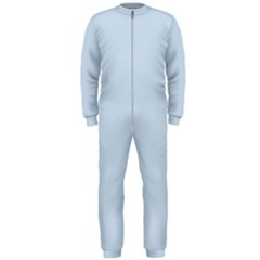 Pastel Color - Light Azureish Gray OnePiece Jumpsuit (Men)