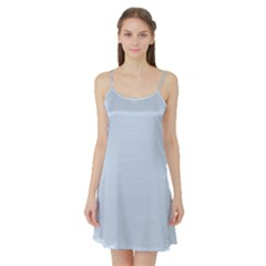 Pastel Color - Light Azureish Gray Satin Night Slip