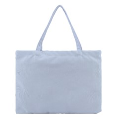 Pastel Color   Light Azureish Gray Medium Tote Bag