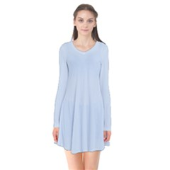 Pastel Color   Light Azureish Gray Flare Dress