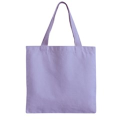 Pastel Color - Light Bluish Gray Zipper Grocery Tote Bag