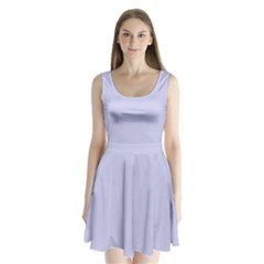 Pastel Color   Light Bluish Gray Split Back Mini Dress