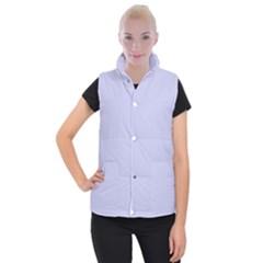 Pastel Color   Light Bluish Gray Women s Button Up Puffer Vest