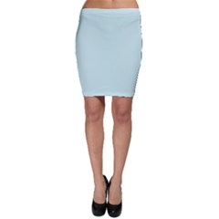 Pastel Color - Light Cyanish Gray Bodycon Skirt
