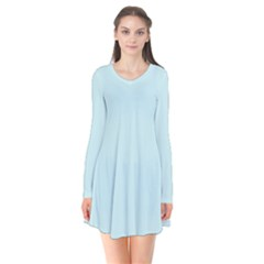 Pastel Color   Light Cyanish Gray Flare Dress