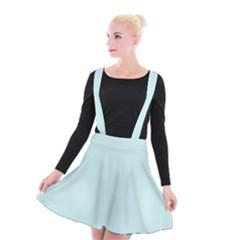Pastel Color   Light Cyanish Gray Suspender Skater Skirt