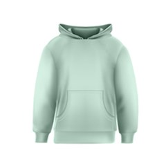 Pastel Color - Light Greenish Gray Kids  Pullover Hoodie