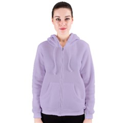 Pastel Color - Light Violetish Gray Women s Zipper Hoodie